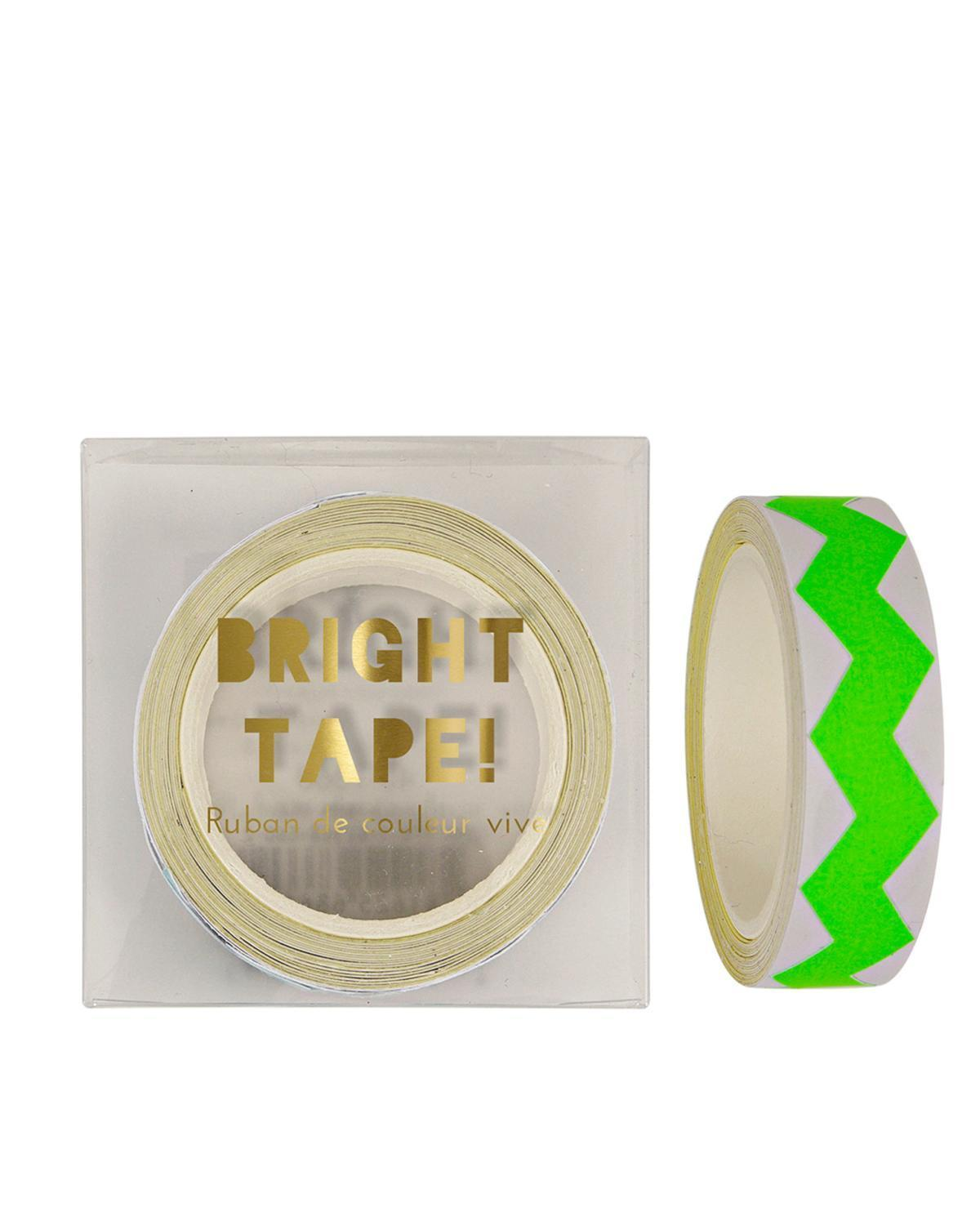 Little meri meri paper+party Chevron Tape in Green
