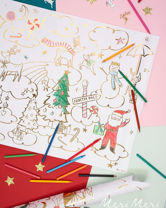 Little meri meri paper+party christmas coloring posters