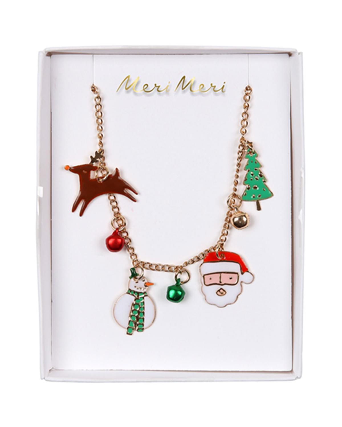 Little meri meri accessories christmas enamel necklace