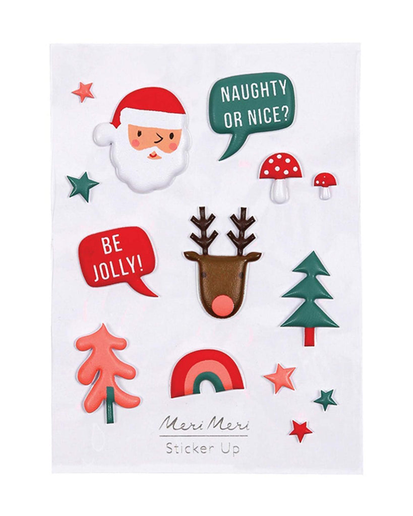 Little meri meri paper+party Christmas Puffy Stickers
