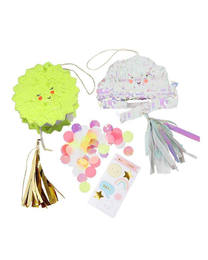 Little meri meri paper+party cloud + sun piñata favors