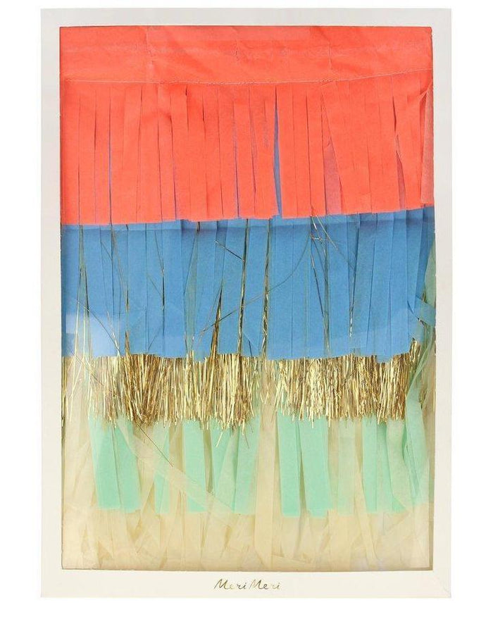 Little meri meri paper+party colorful fringe large garland