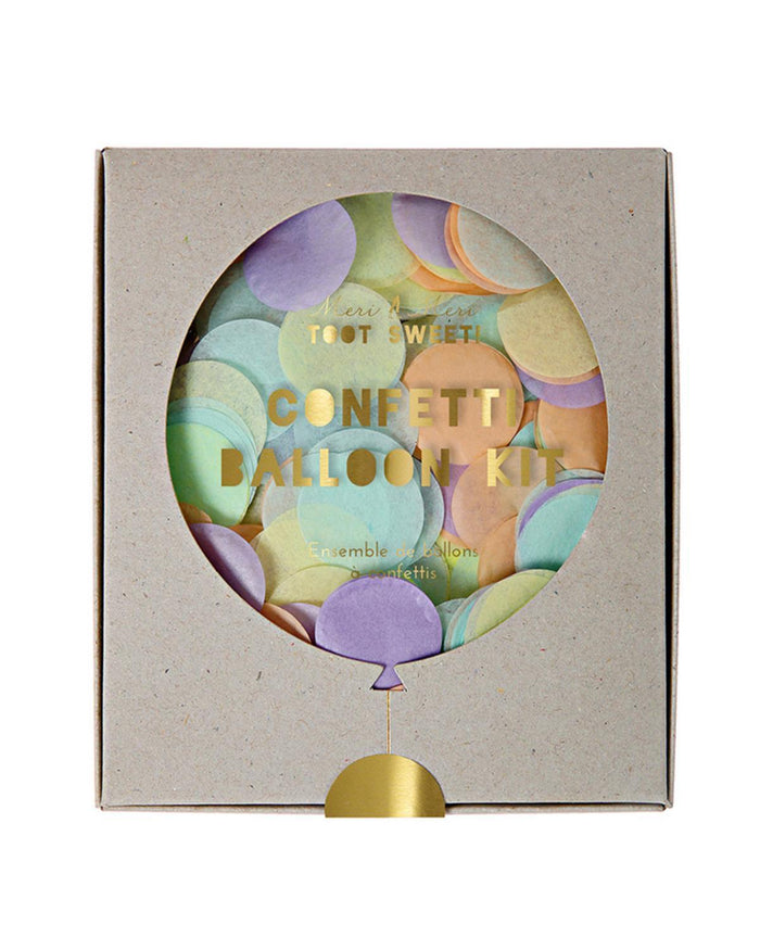 Little meri meri paper+party Confetti Balloon Kit in Pastel
