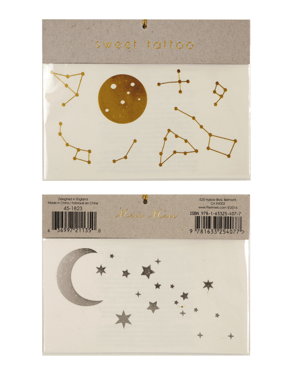 Little meri meri paper+party Constellation Tattoos