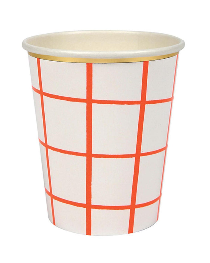 Little meri meri paper+party Coral Grid Cups