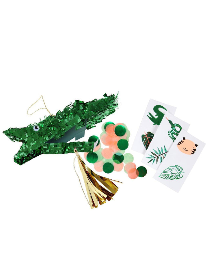 Little meri meri paper+party crocodile piñata party favors