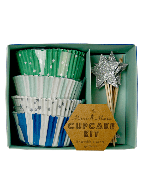 Little meri meri paper+party Cupcake Kit in Blue