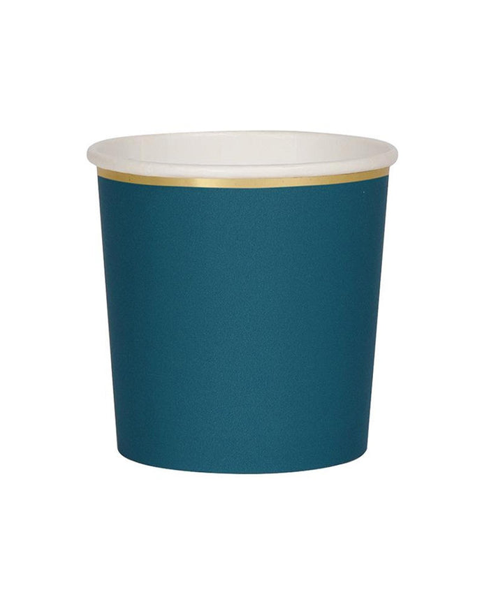 Little meri meri paper+party dark teal tumbler cups