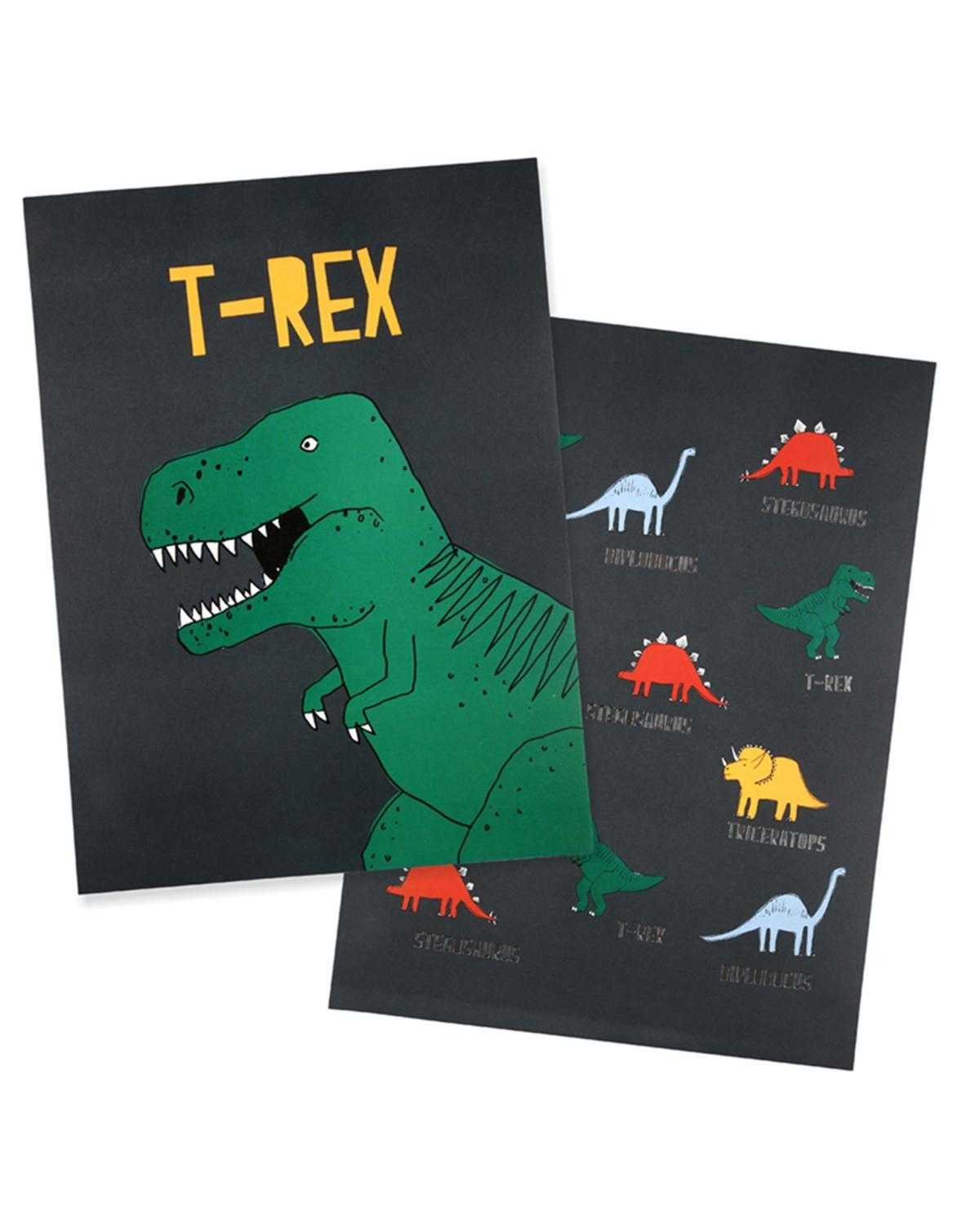 Little meri meri room dinosaur art prints
