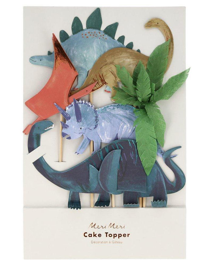 Little meri meri paper+party dinosaur kingdom cake toppers