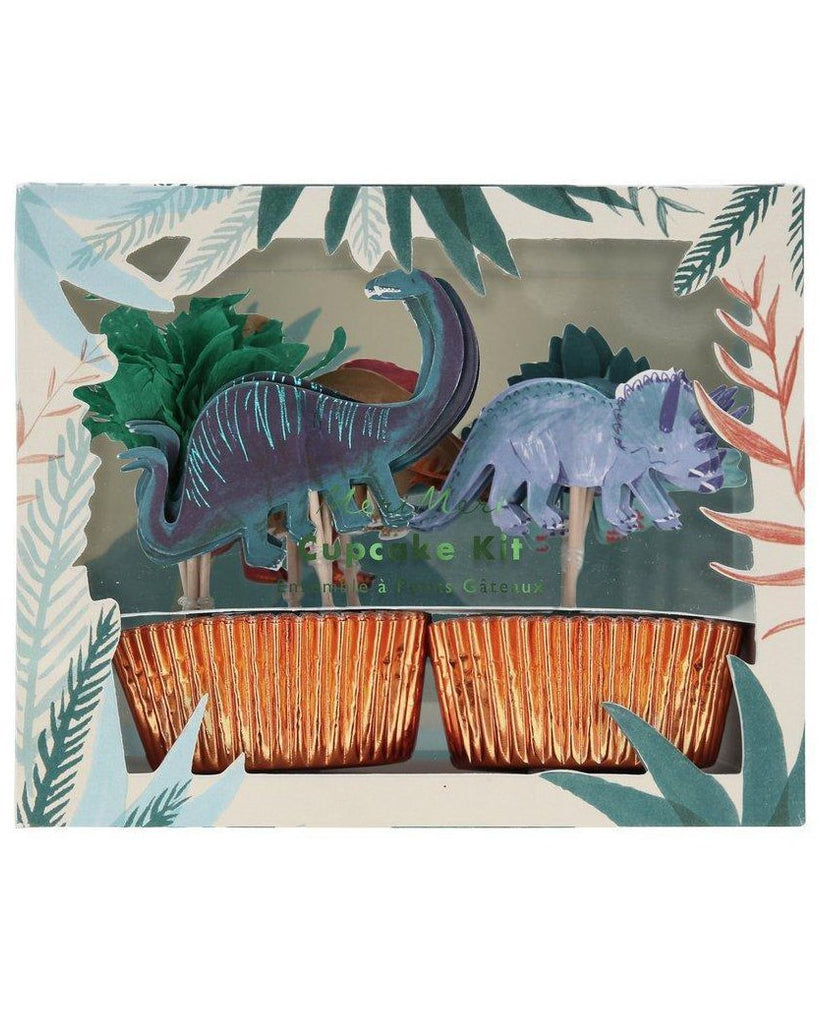 Little meri meri paper+party dinosaur kingdom cupcake kit