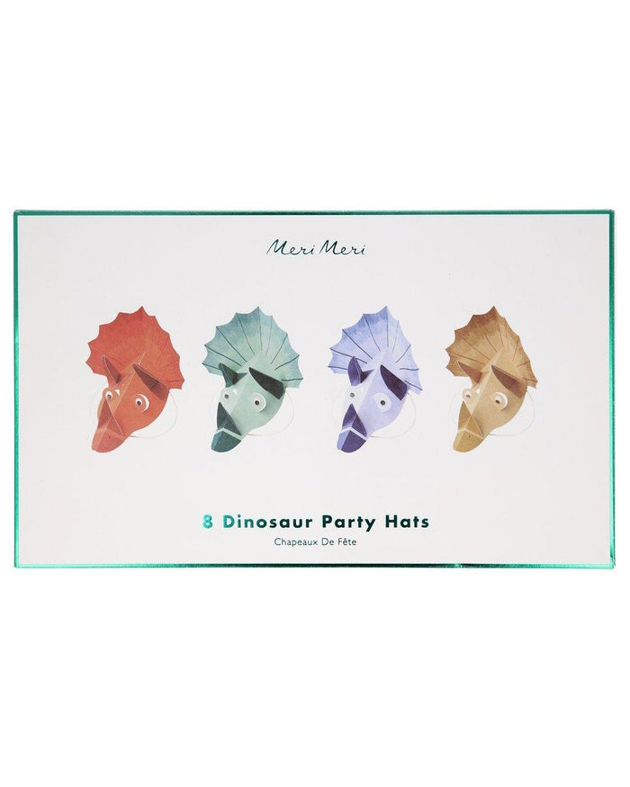 Little meri meri paper+party dinosaur kingdom party hats