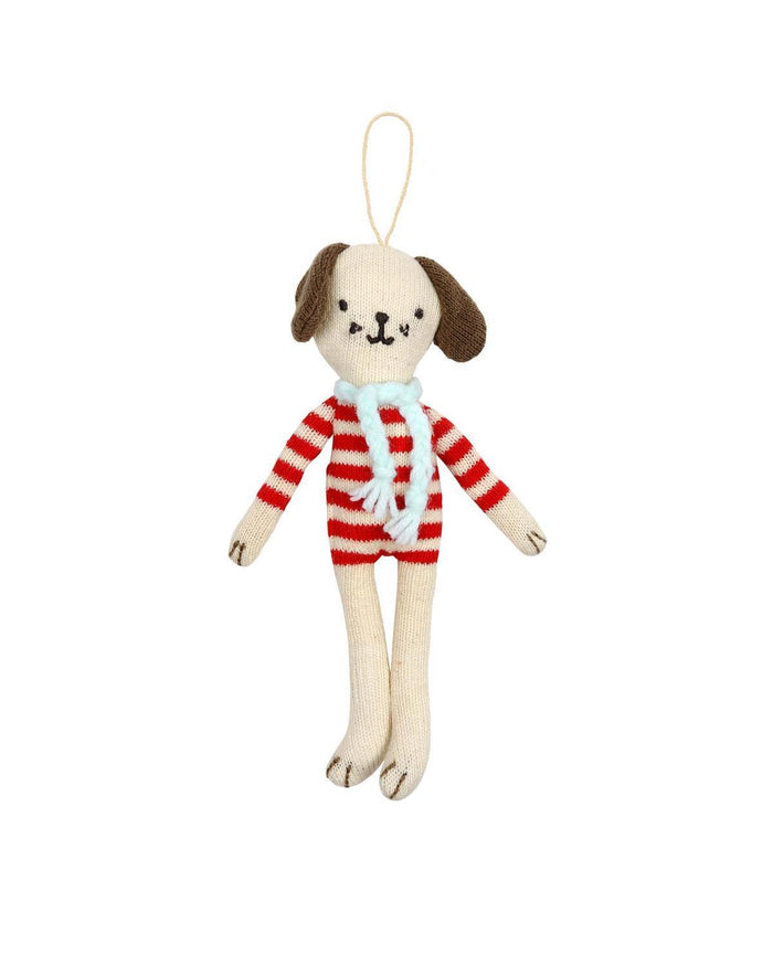 Little meri meri room Dog Knit Ornament