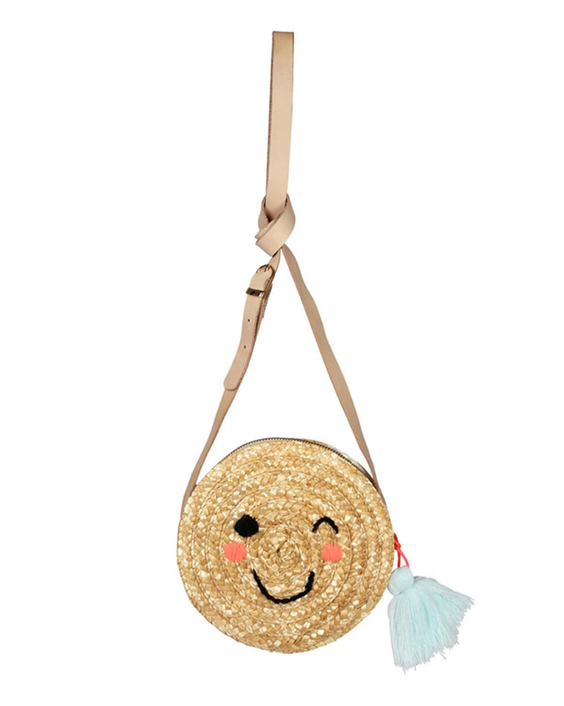 Little meri meri accessories emoji raffia bag