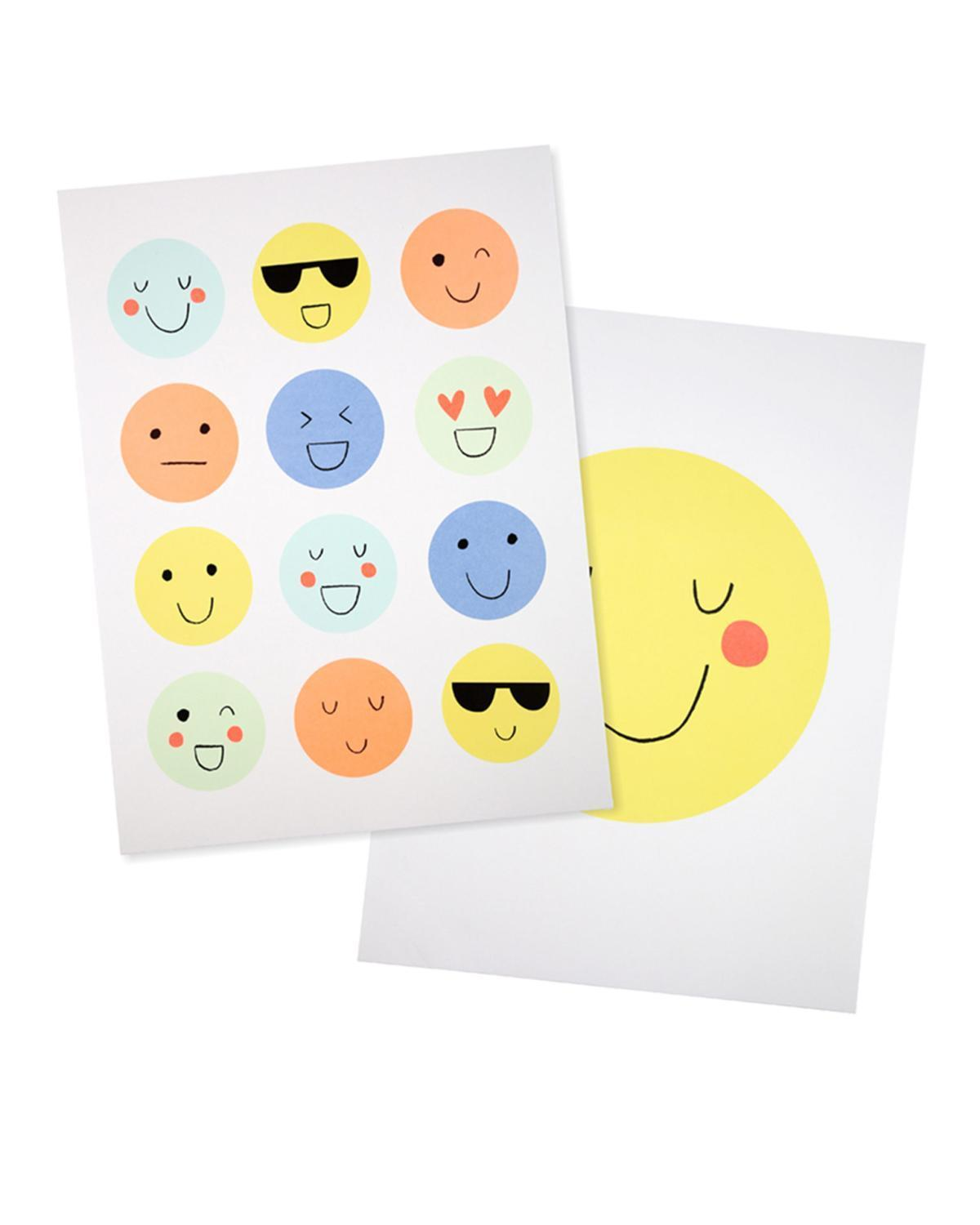 Little meri meri room emoji wall art
