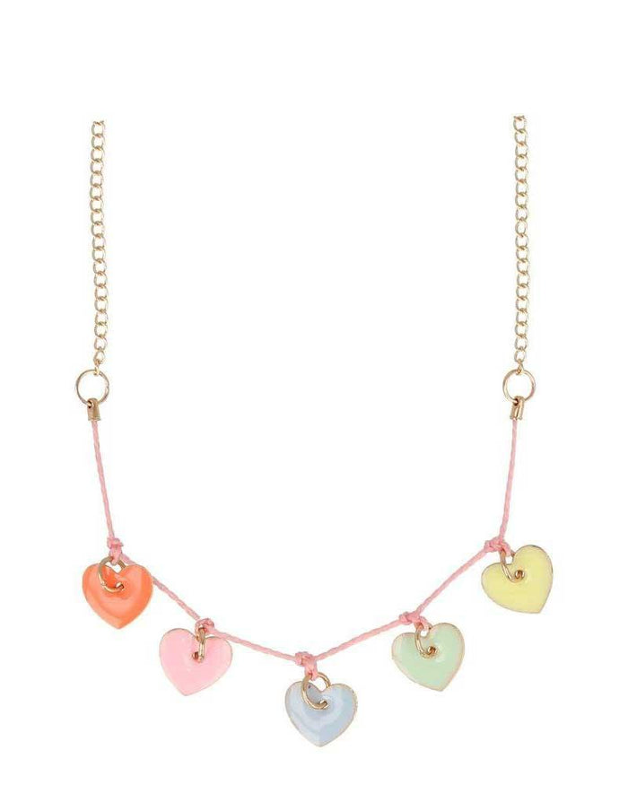 Little meri meri accessories enamel hearts necklace