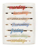 Little meri meri accessories enamel week day hair slides