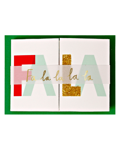 Little meri meri paper+party Fa La La Mini Banner Card