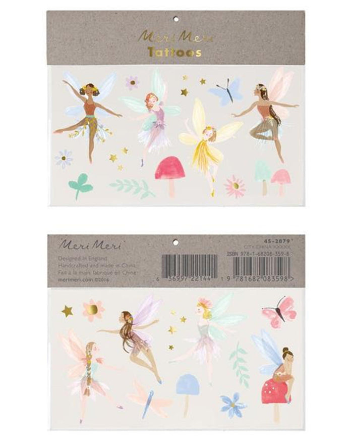 Little meri meri paper + party fairy large tattoos