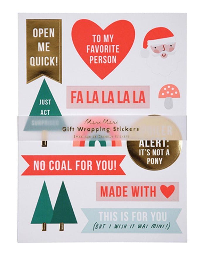 Little meri meri paper+party festive gift wrapping sticker