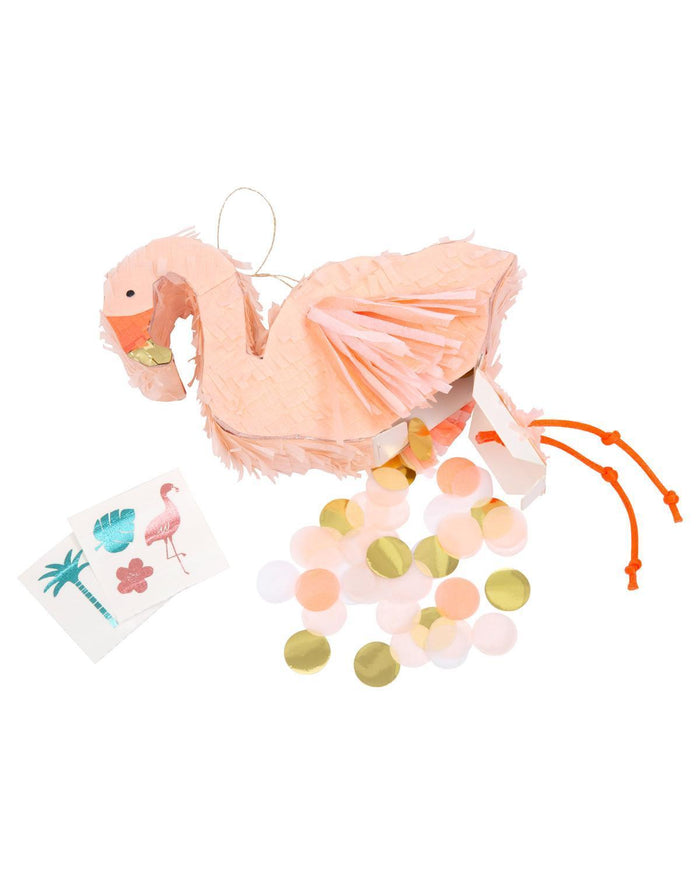 Little meri meri paper+party flamingo piñata party favors