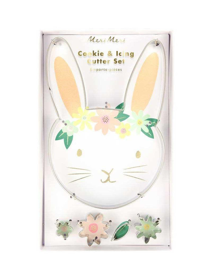 Little meri meri paper+party floral bunny cookie cutters