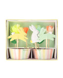 Little meri meri paper+party floral bunny cupcake kit