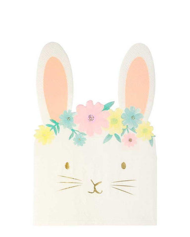 Little meri meri paper+party floral bunny napkins