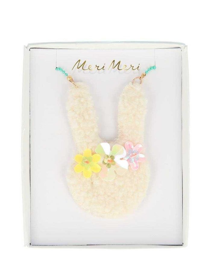 Little meri meri accessories floral bunny necklace