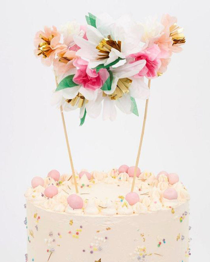 Little meri meri paper + party flower bouquet cake topper