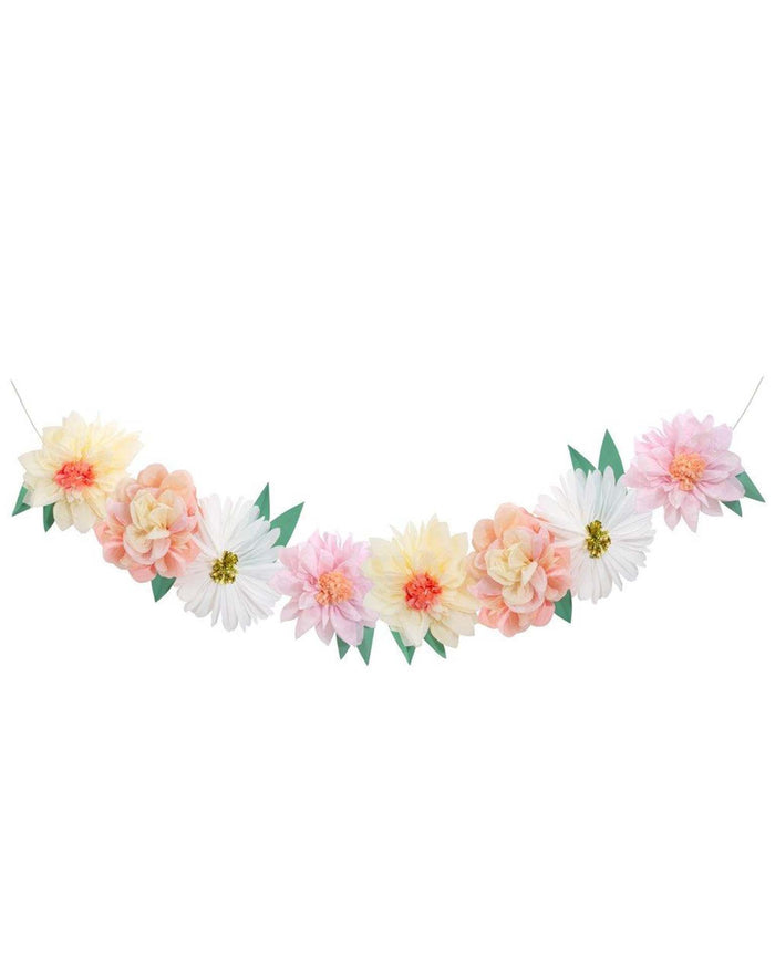 Little meri meri paper+party flower garden giant garland