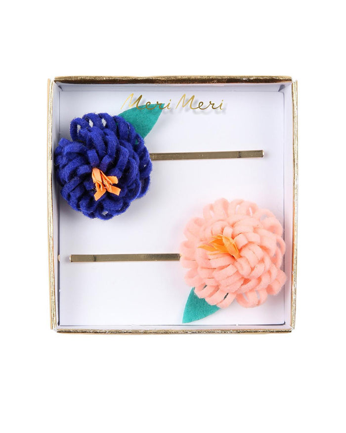 Little meri meri accessories flower posy hair slides