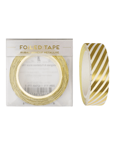 Little meri meri paper+party Foil Stripes Tape in Gold