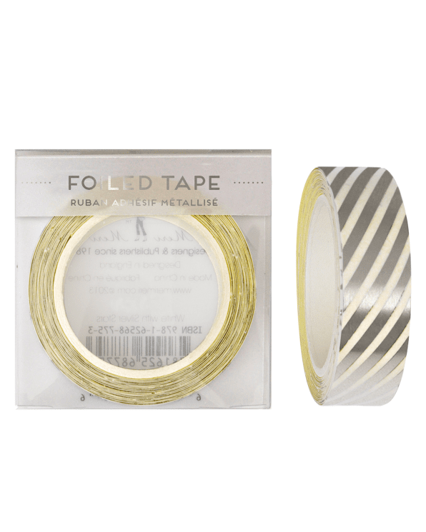 Little meri meri paper+party Foil Stripes Tape in Silver