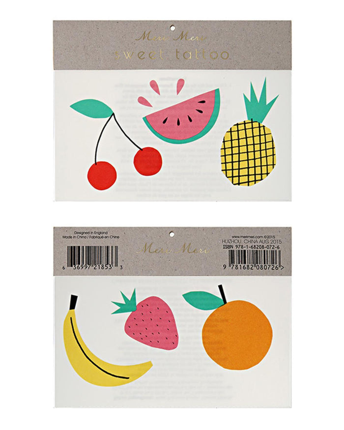 Little meri meri paper+party Fruit Tattoos