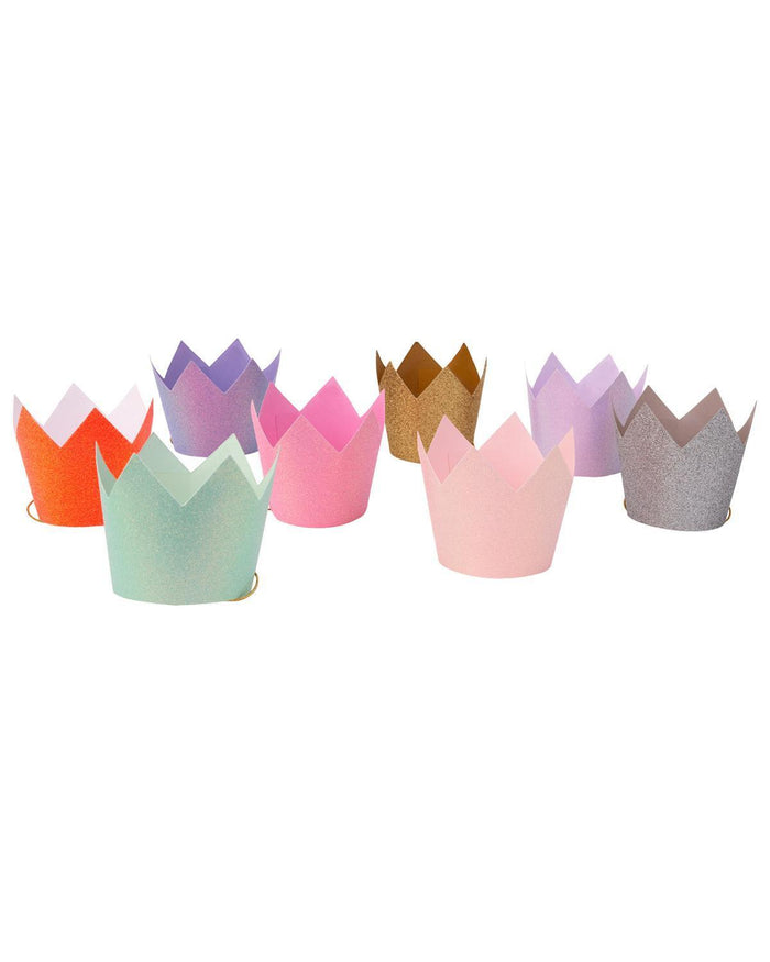 Little meri meri paper+party glitter party crowns
