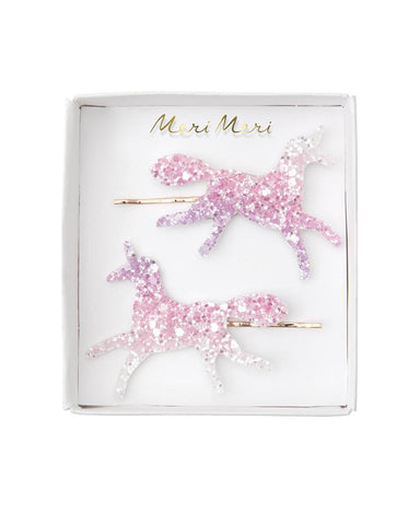 Little meri meri accessories glitter unicorn hair slides