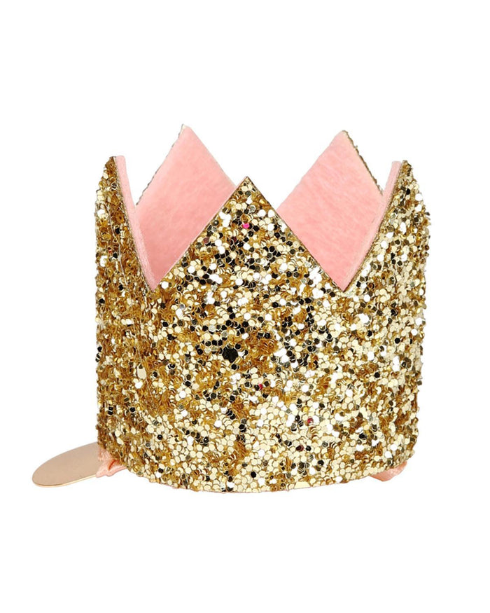 Little meri meri accessories glittered crown hair clip