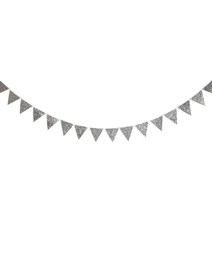 Little meri meri paper+party Glittler Garland in Silver