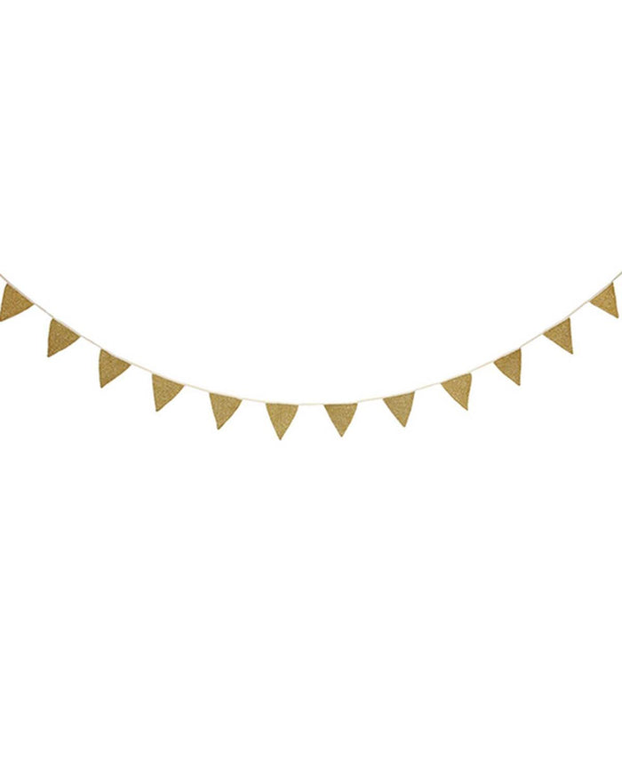 Little meri meri paper+party Gold Knit Bunting