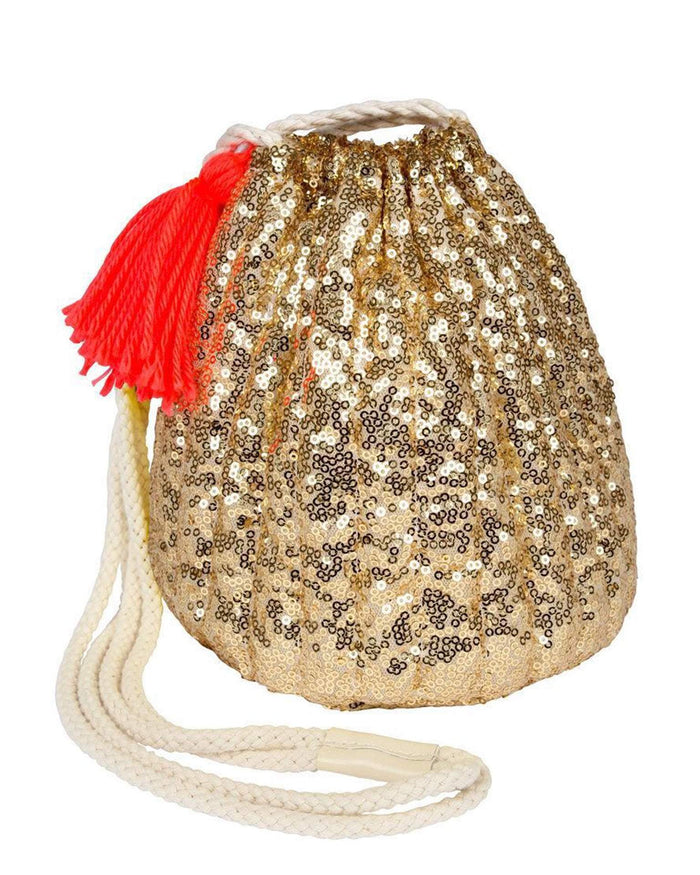 Little meri meri accessories gold sequin bag