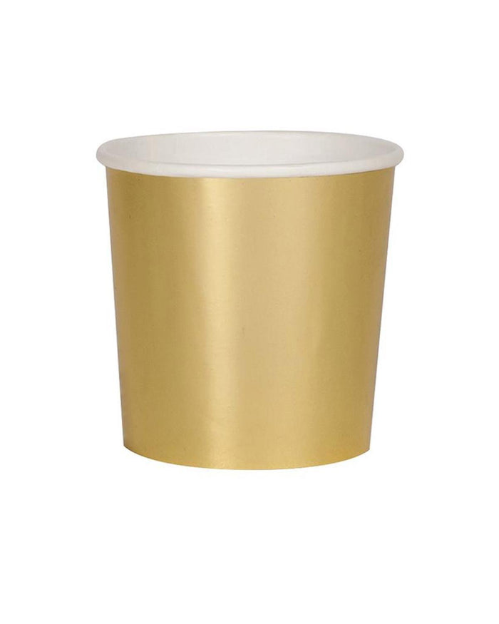 Little meri meri paper+party gold tumbler cups