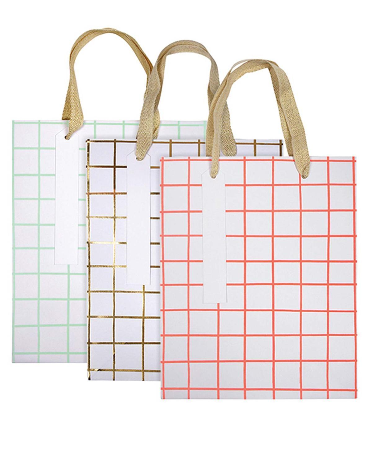 Little meri meri paper+party Grid Gift Bag Set