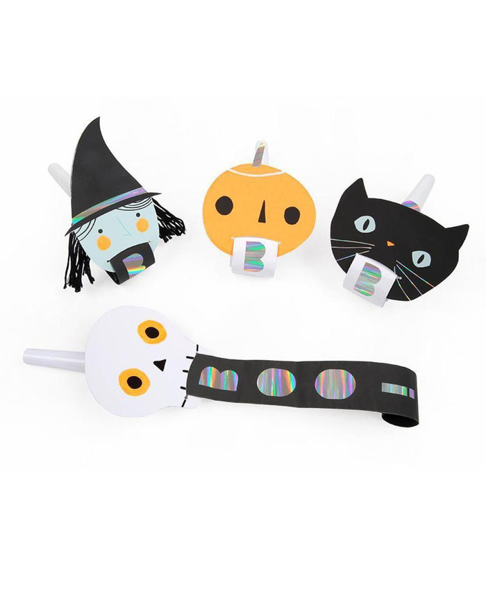 Little meri meri paper+party halloween character blowers