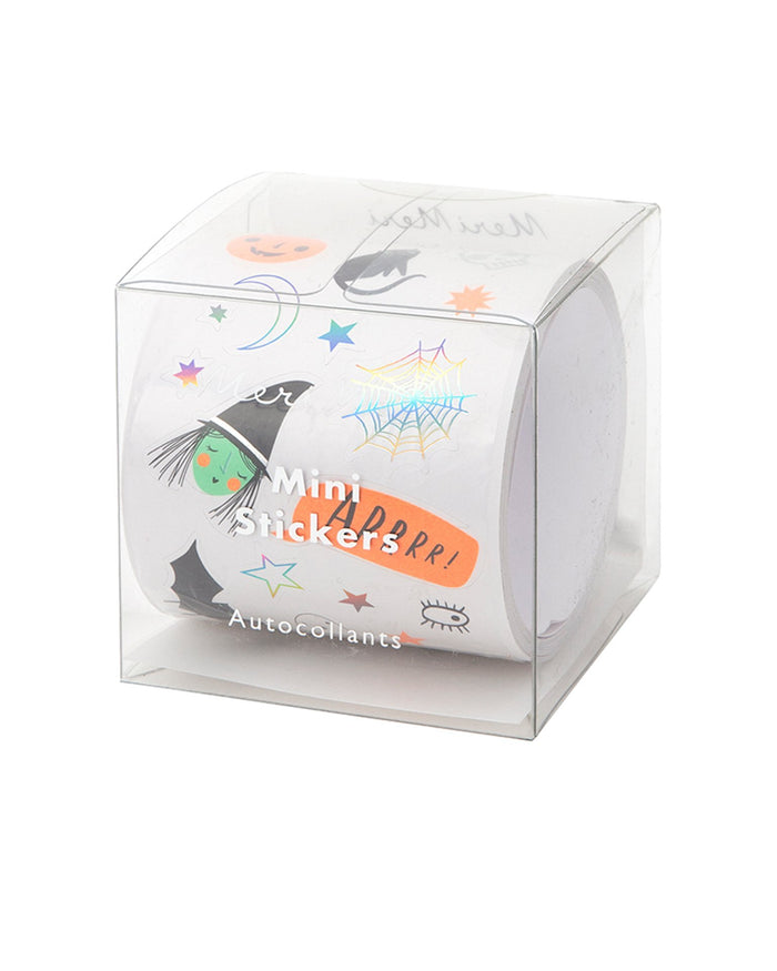 Little meri meri paper+party halloween icons mini sticker roll