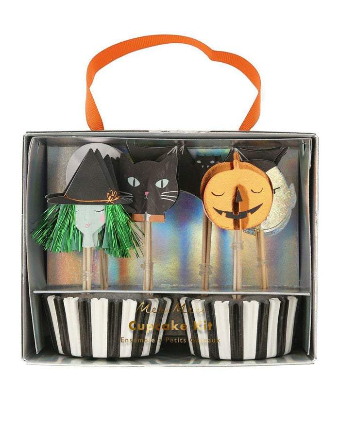 Little meri meri paper+party halloween motif cupcake kit