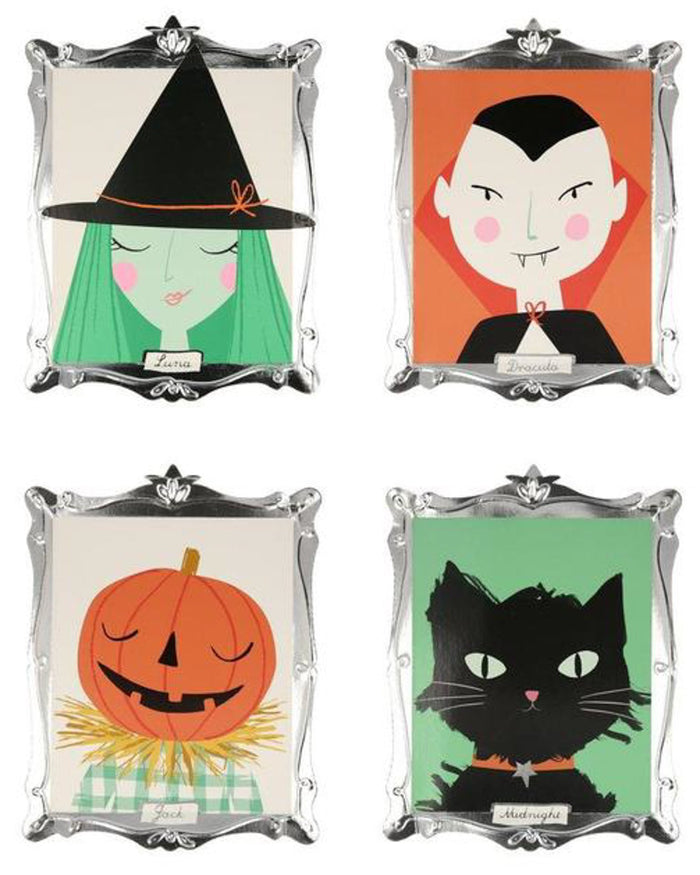 Little meri meri paper+party halloween motif frame plates
