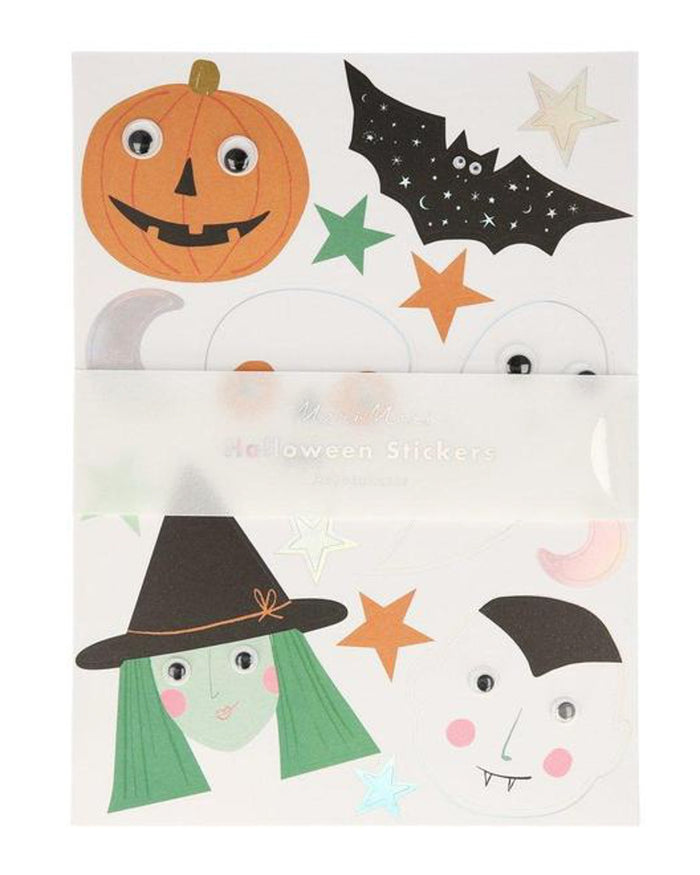 Little meri meri paper+party halloween motif stickers