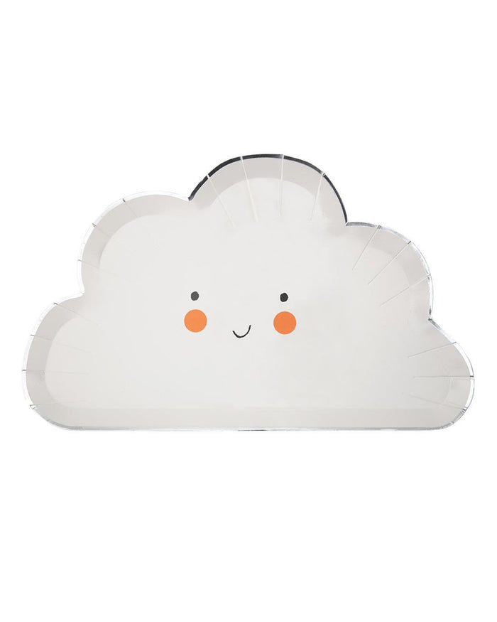 Little meri meri paper+party happy cloud plate