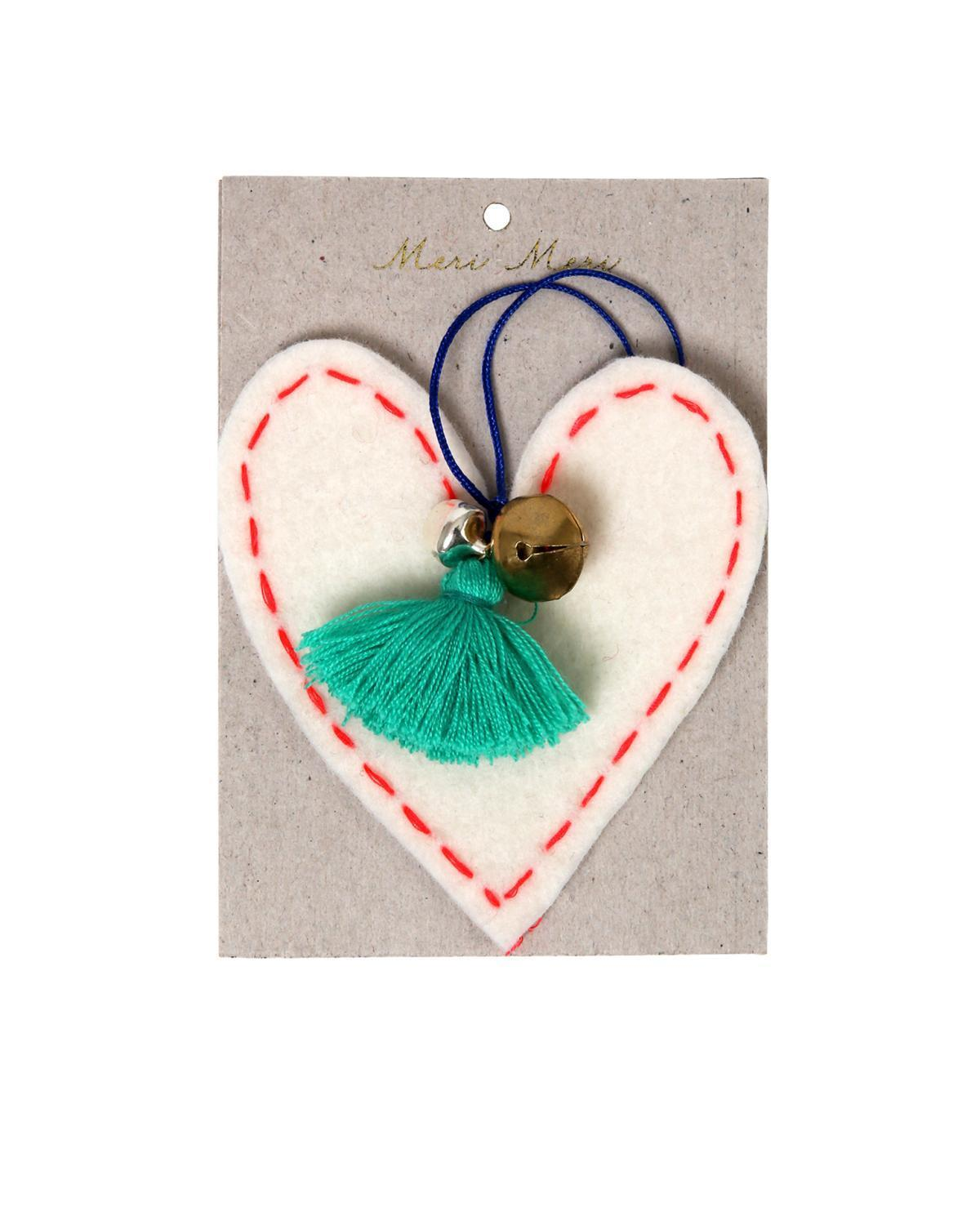 Little meri meri room Heart Felt Ornament